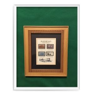 Other - Railroad Stamp Collection Framed